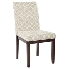 Office Star Products Ave Six Dakota Armless Parsons Chair (Mist Geo Sand), Brown (Fabric)