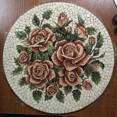 Marble Mosaic Handmade Mosaic Roses Painting Roses Mosaic - Marble Mosaic Handmade Mosaic Roses Painting Roses Mosaic Flowers Wall Art Roman Mosaic Home Decor Round Tiles Round Mosaic Picturesque Paintings Of Marble Handmade By Ukrainiangems On Etsy M Marble Art, Marble Mosaic, Mosaic Glass, Mosaic Tiles, Mosaics, Stained Glass, Mosaic Artwork, Mosaic Wall Art, Mosaic Mirrors