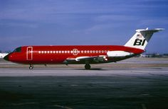 Braniff International BAC 111-203AE One-Eleven N1548 in bright red, circa 1971. This very reliable and popular type was regrettably dropped by the airline in 1972 due to it's desire to be an all-Boeing carrier. (Photo: Manfred Winter, Copyright: Braniff Flying Colors Collection)
