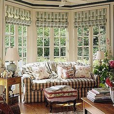 bay window treatments.  I like the pull down design.