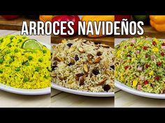 ARROCES NAVIDEÑOS 2 - YouTube Main Dishes, Side Dishes, Deli, Quinoa, Spinach, Deserts, Good Food, Food And Drink, Rice