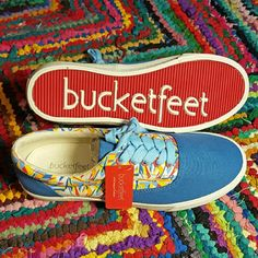 Bucketfeet Kenor Slip On Low Top Designer Sneakers This shoe has a classic canvas silhouette, removeable molded latex insole, and soft cushioning with comfort bubbles. Its vulcanized rubber outsole is tough as nails and emblazoned with the Bucketfeet name.   Bucketfeet supports its artists with every sale!   These are 100% BRAND NEW and ship with tags.  No trades, but I always check out your closets! I'm fairly firm on price, but it never hurts to offer. Bucketfeet  Shoes Sneakers