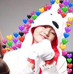Seokjin, Namjoon, Jimin, Bts Taehyung, K Pop, Pop Stickers, Heart Meme, Shawn Mendes Memes, Bts Meme Faces