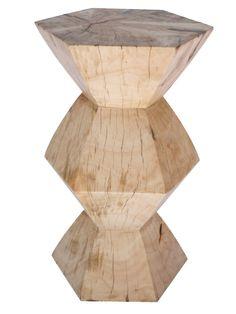 Wooden Hexagon Stool