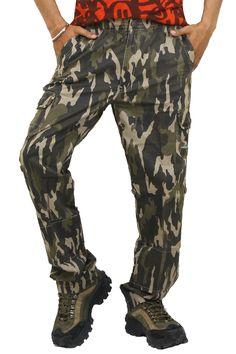 Buy SAPPER Militry Green Cotton Lower Cum Capri (Also Trouser) Online For Men at GetAbhi.com http://tinyurl.com/zvqa2ux