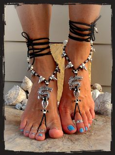 * Unique design by GPyoga * (do not copy please) (beaded charm ankle bracelets can be purchased separately; shoes are not included and only serve as a