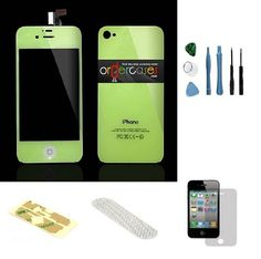 Iphone 4S Complete Color Change Kit (Glow in Dark) #http://www.pinterest.com/ordercases/
