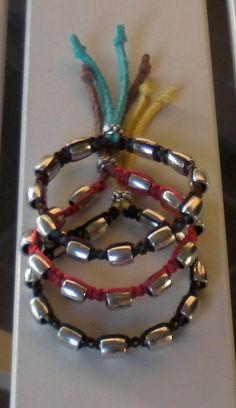 bracciali con perle di metallo - modello 4