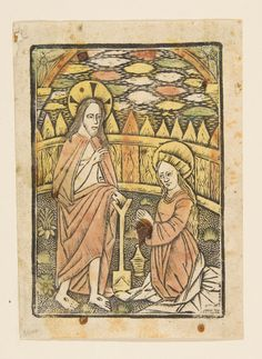 Christ Appearing to St. Mary Magdalen (Schr. 2388)  Published 15th century