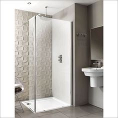 Playtime walk-in shower with side screen 1200