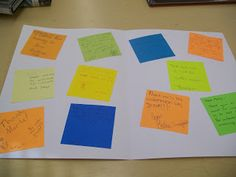 Use post-its to have every student in your class uniquely involved with thank you writing!