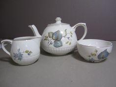 B4 Ellgreave Staffordshire Heatmaster Individual Teapot w/ Creamer & Sugar
