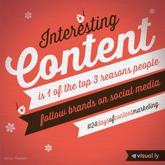 24 Days of Content Marketing: Reasons people follow brands on social media