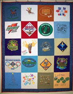 T-Shirt Quilt - 4x5 squares