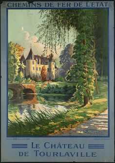 Title: Le château de Tourlaville    Created/Published: Paris : Affiches Edia    Date issued: 1910-1959 (approximate)    Physical description: 1 print (poster) : color