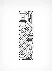 Letter I Circuit Board on White Background vector art illustration Circuit Board Tattoo, Circuit Board Design, Game Ui Design, Logo Design, Circuit Drawing, Hexagon Tattoo, Cyberpunk Tattoo, Electronic Tattoo, Architecture Tattoo
