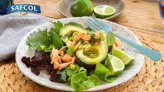 salmon avocado mint salad