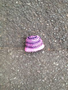 Tiny knitted hat.