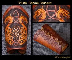 Viking Dragon Bracer - WIP2 by TheNetrunner