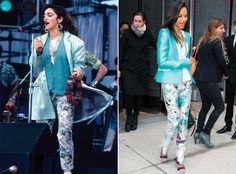 11 celebrity style twins: Madonna and Zoe Saldana.