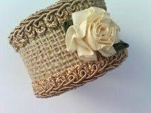 Burlap Napkin Ring Cottage Chic Napkin Ring by HauteInteriorsLLC, $44.00