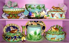 A look at English, American and Continental Victorian majolica and faience  from a historical, aesthetic and collectible point of view.