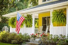 Farmhouse front porch in Indiana's Amish Country | Midwest Living
