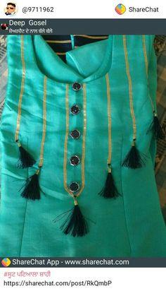 Salwar Suit Neck Designs, Churidar Designs, Kurta Neck Design, Kurta Designs Women, Neck Design For Kurtis, Chudidhar Neck Designs, Neck Designs For Suits, Dress Neck Designs, Blouse Designs