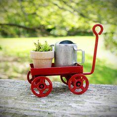 Little Red Gardening Wagon