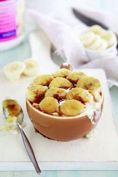 Hot Caramel Banana Creams