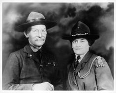 Juliette Low (the founder of Girl Scouts in America) & Lord Baden-Powell (the found Boy Scouts).