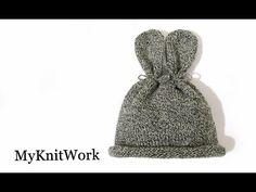 Шапочка Зайка для новорожденного. Bunny hat. Вязание спицами. - YouTube