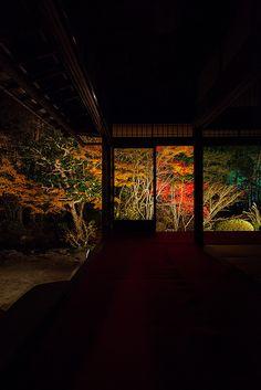 Nanzen-ji temple at night, Kyoto, Japan
