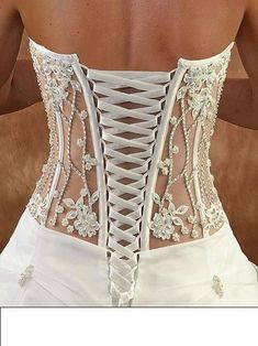 Wedding dresses for 2013 ❤ 2014 bridal corset, wedding lingerie, wedding dr Wedding Lingerie, Wedding Gowns, Bridal Corset, Wedding Corset, Lace Wedding, Crochet Wedding Dresses, Honeymoon Lingerie, Trendy Wedding, White Corset