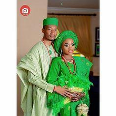 Shades of Green @damnlawllar and @loladeking looking lovely in their traditional attire. You like?  @segniks.studios MUA @_timelessbeauty  Asoebi @tmfashbridalsnevents #gidiweddings #weddingwelove #weddings #mua #nigeriaweddings #naijaweddings #photography #instalike #instagood #nigeria