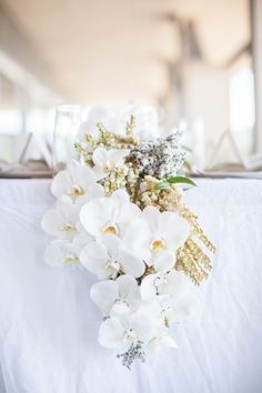 Avalon On The Beach / Sydney Wedding Venue / White Orchids / Floral Arranging / Wedding Style Inspiration / The LANE