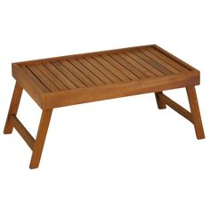 Found it at Wayfair - Coco Bed Tray Table in Solid Teak Wood