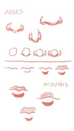 mouths n' noses - Drawing Techniques - Pencil Art Drawings, Art Drawings Sketches, Cool Drawings, Cartoon Drawings, Nose Drawing, Drawing Base, Art Reference Poses, Drawing Reference, Drawing Techniques