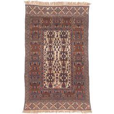 ecarpetgallery Handmade Shirvan and Brown Sumak Rug