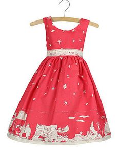 Martha Dress Seaside Print