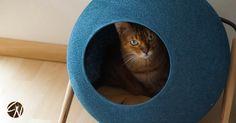 Rund - runder - kugelrund: die stylische und gemütliche Katzenhöhle THE BALL Pillows, Cat Cave, Round Round, Cushions, Pillow Forms, Cushion, Scatter Cushions
