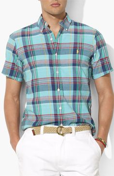 Polo Ralph Lauren Custom Fit Poplin Sport Shirt | Nordstrom