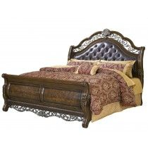 Coventry Traditional King Sleigh Bed With Button Tufted