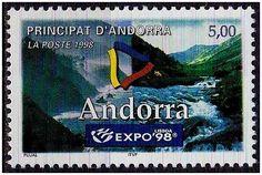 Selos - Expo 98 - Selo de Andorra. - 1998 - Andorra - Emissão alusiva à Expo 98 de Lisboa