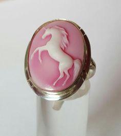 Unicorn camee ring