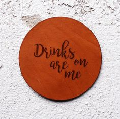 Leather gift ideas for him Leather Coaster Leather gifts for