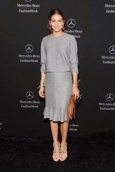 The Olivia Palermo Lookbook : New York Fashion Week Spring 2015 : Olivia Palermo at Carolina Herrera