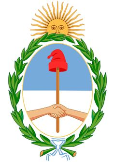 ESCUDO NACIONAL Fiesta 22 de Febrero/ Argentinian National Coat of Arms is celebrated on 22th of February.