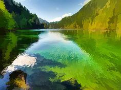 Lanjee Chee - Majestic mountain lake 1