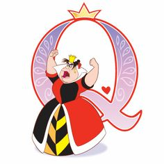 Disney Alphabet - Q for Queen of Hearts | Disney Alphabet Printables | Printables | Disney Family.com